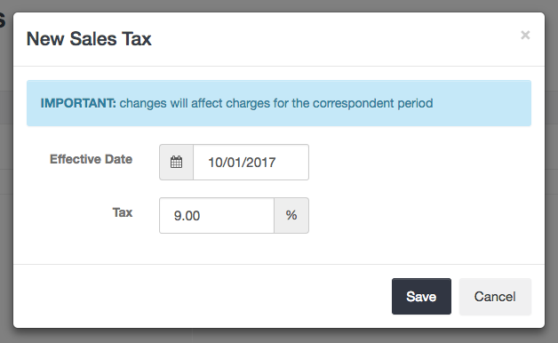 Adding a Sales Tax