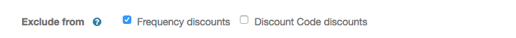 Exclude service/extra from frequency discount and/or discount code