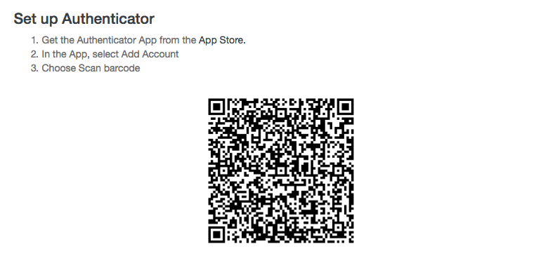 Scan barcode to add Launch27 to Google Authenticator