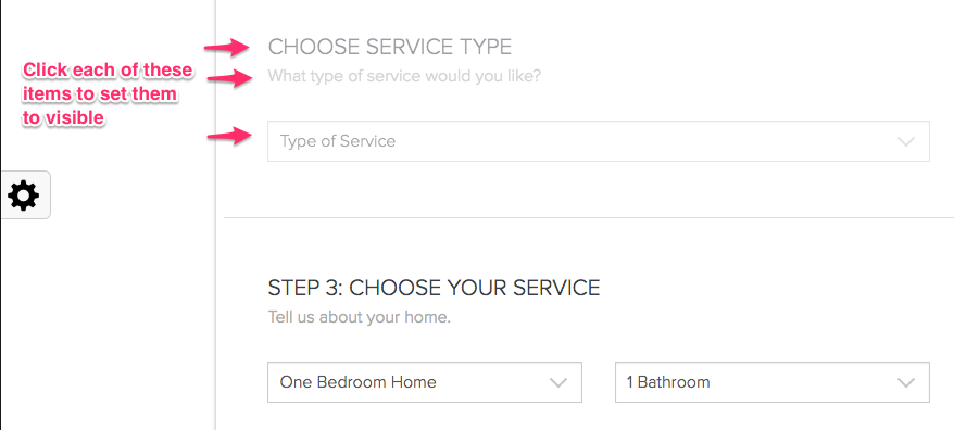 Set Service Category to visible - launch27.com online booking