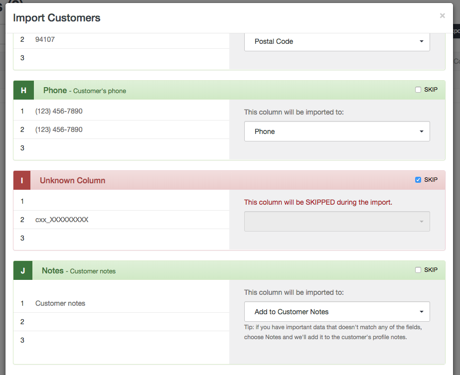 Import Customers - Step 2 - Launch27 online booking