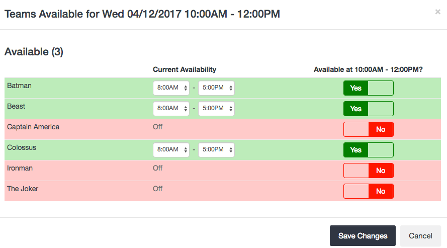 Booking availability based on Team Availability - Manage Teams - Launch27