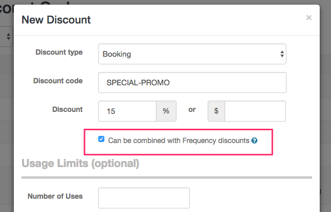 Combine Discount Codes with Frequency Discount