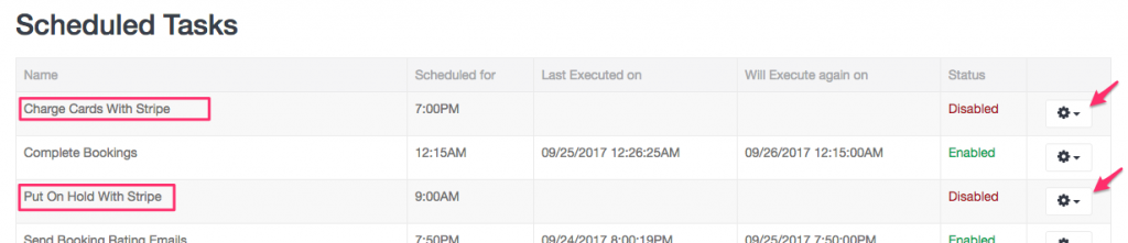 Automated tasks for Stripe Holds and Charges