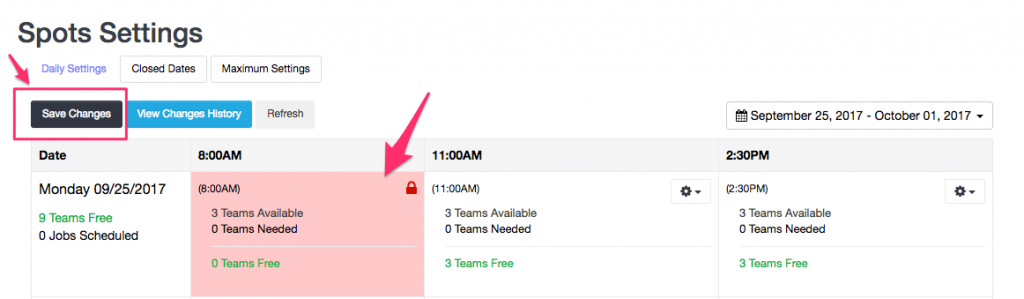 Prevent new bookings in Team availability mode