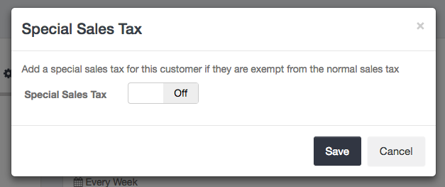 Special sales tax disabled for Customer - Launch27 online booking