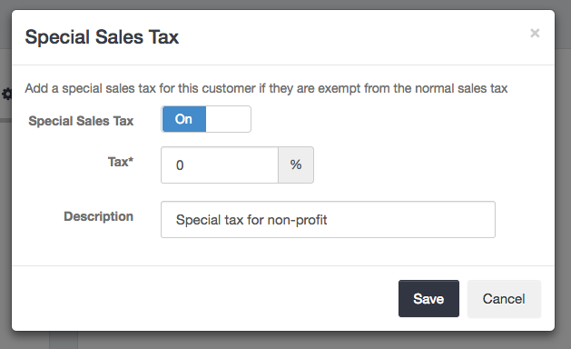 Special sales tax enabled for Customer - Launch27 online booking