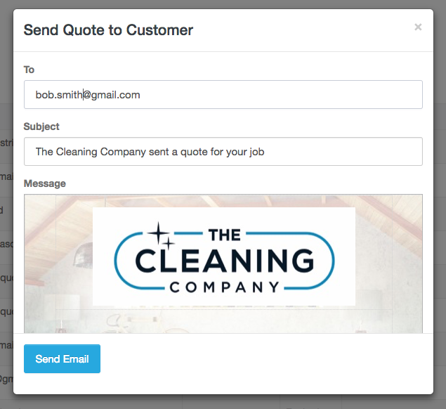 Email quote to customer - Launch27.com online booking
