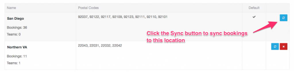 Sync bookings to Location modal - Launch27 online booking